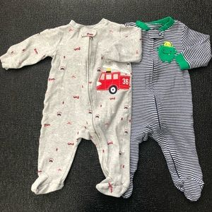 Carter's Fire Truck and Monster Sleepers